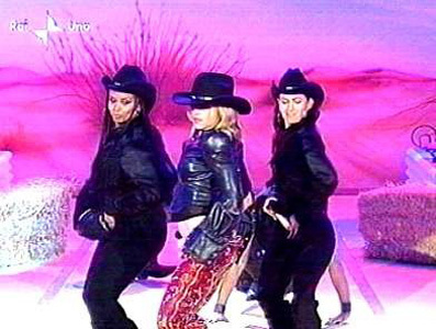 Madonna performs on Carramba Che Fortuna Show, Italy