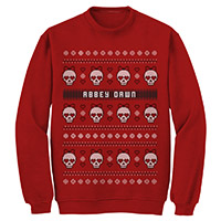 Abbey Dawn Ugly Skull Christmas Sweatshirt