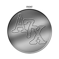 Silver colored Challenge Coin