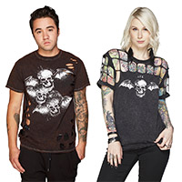 Deathbat Custom destroyed tee & cutout tee