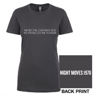 Night Moves Ladies Lyric Tee