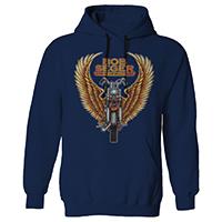 Winged Motorcycle Pullover Hoodie