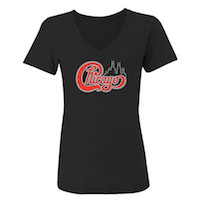 Chicago Women's Rhinestone V-Neck