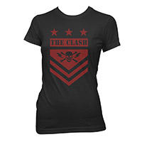 The Clash Red Shield Ladies T-shirt