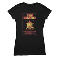 Texas Tour 83 Black Ladies T-shirt
