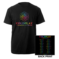 Coldplay A Head Full Of Dreams Europe 2017 Tour T-Shirt