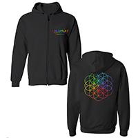 Coldplay Flower of Life Zip Black Hoody
