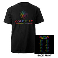 Coldplay A Head Full Of Dreams North American 2017 Tour T-Shirt