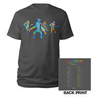 Coldplay Chimps North American 2017 Tour Charcoal T-shirt