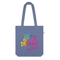 A Head Full Of Dreams Blue Tote Bag