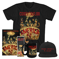 Corey Taylor Hat, Tee, mug, bookmark, and book Bundle