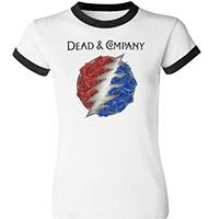 Ladies Dead & Company Logo Ringer Tee