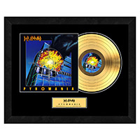 Pyromania Collectible Framed Gold LP