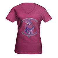 Snake And Dagger Ladies V-Neck Tee