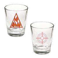 Triangle And Target Shot Glass