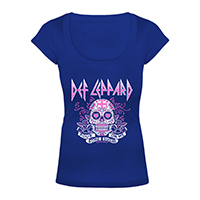 Sugar Skull Ladies Scoop Neck Tee