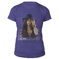 Demi Lovato Blue Hat BabyDoll Shirt