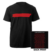 Red Stripe/US Dates Black T-shirt