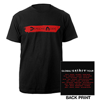 Logo/US Dates Black T-shirt