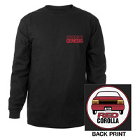 RED COROLLA LOGO LONG SLEEVE TEE