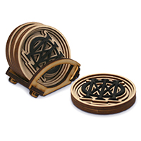 Majesty Symbol Baltic Birch Coasters