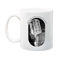 John Mellencamp white mug