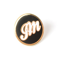JM Black Lapel Pin