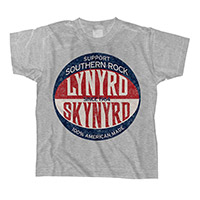 Lynyrd Skynyrd Grey Baseball Logo Toddler Tee