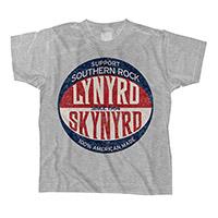 Lynyrd Skynyrd Grey Baseball Logo Toddler Tee