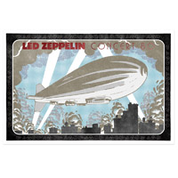 Concert 80 with Blimp Numbered 24x36 Lithograph