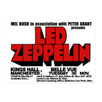 Kings Hall, Belle Vue, Manchester 1971 Numbered 18x24 Screen Print