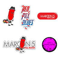 Maroon 5 Red Pill Blues Sticker Set