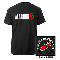 Maroon 5 Red Pill Blues Tour Logo Tee