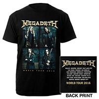 Megadeth 2016 Itin Tee