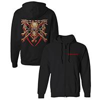 Megadeth Skull and Bones Zip Hoodie