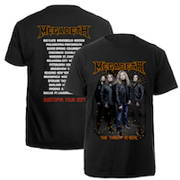 Megadeth The Threat Is Real Tee