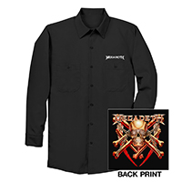 Megadeth Dickies Long Sleeve Work Shirt