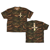 MELLOWHYPE OF CROSS CAMO TEE