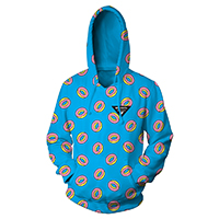 ALLOVER DONUT TURQUOISE HOODIE