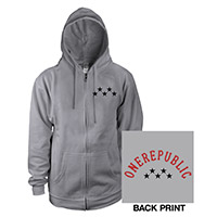 OneRepublic Unisex Full Zip Hooded Sweatshirt