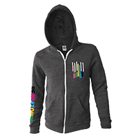 Color Keys Applique Zip Hoodie