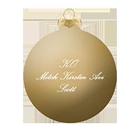 'A Pentatonix Christmas' Gold Ornament