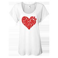 Heart Logo Women's Flowy Raglan Tee