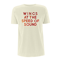Wings At The Speed Of Sound/Logo Natural T-shirt