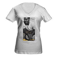 Romeo Santos Photo Women's V-Neck T-Shirt