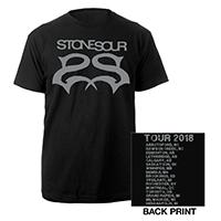 Stone Sour Silver Logo Itin Tee