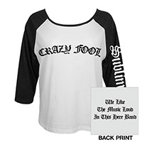 Crazy Fool Womens Raglan