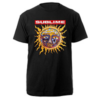 Pro Club Big and Tall Black 100% Cotton Men's tee featuring iconic Sun Logo