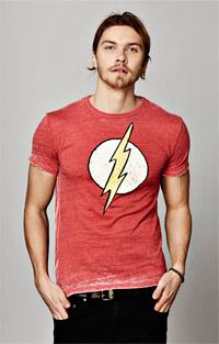 The Flash Lightning Bolt Men's Burnout Crew