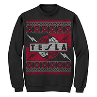 Tesla 'Ugly' Poinsettia Christmas Sweater